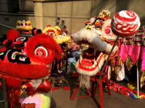 Dragon dancers